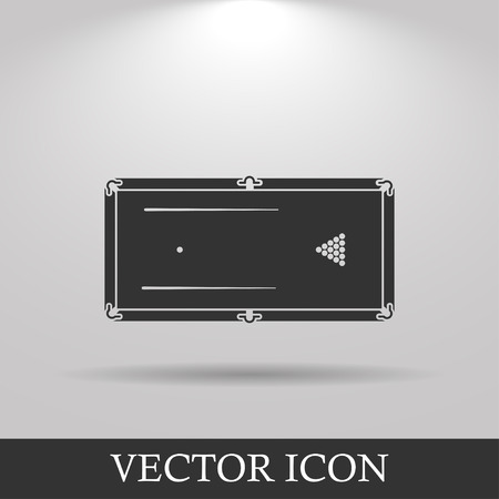 pool symbol: pool or billiards table symbol. Flat design style.