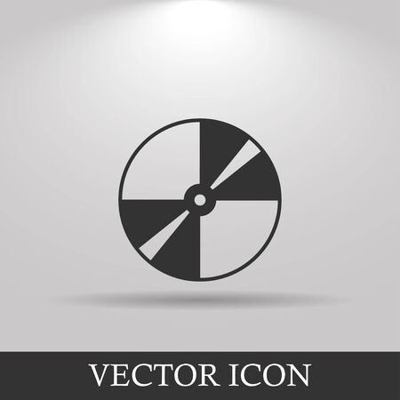 recordable media: Vector CD or DVD icon. Flat design style eps 10 Illustration