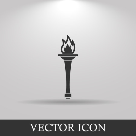 Torch icon - Vector Illustration EPS 10. Flat design style Illustration