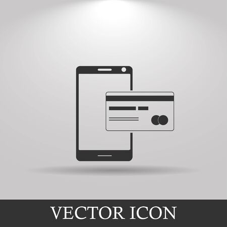 smart card: Mobile payment icon. Illustration vector EPS 10