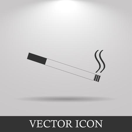 toxic product: Cigarette icon. Flat design style. EPS 10 Illustration