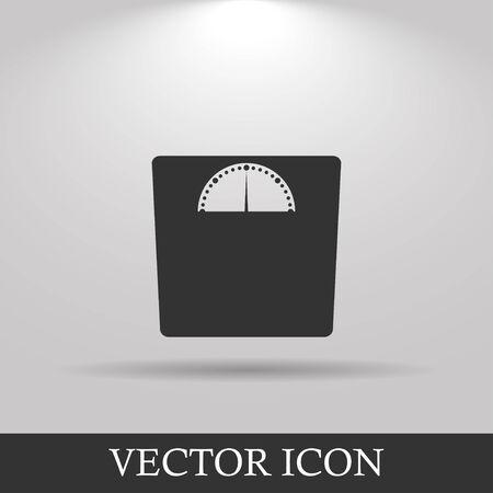 重み付けのアイコン。ベクトル イラスト EPS 10 フラット