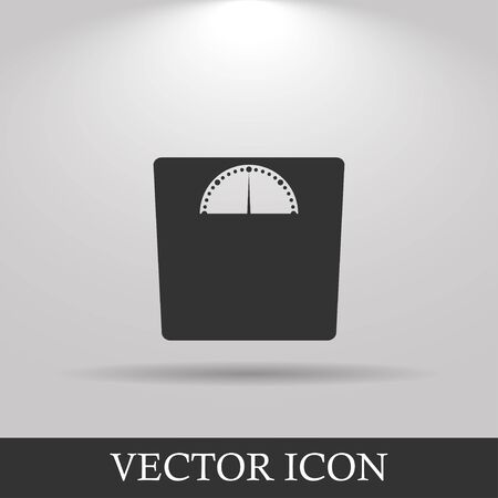 eps vector icon: weighting icon. Vector illustration EPS 10 flat