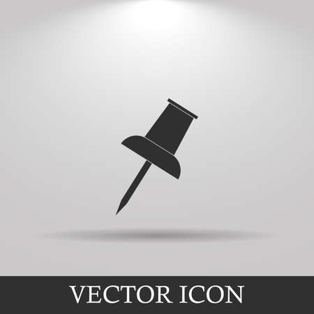 push pin icon: Vector push pin icon. Flat design style eps 10