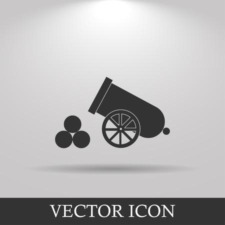 retro cannon Flat design style eps 10 Illustration