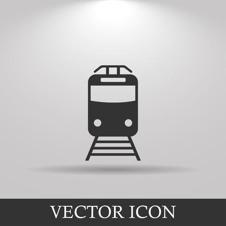 Train icon, isolated vector eps 10 illustration