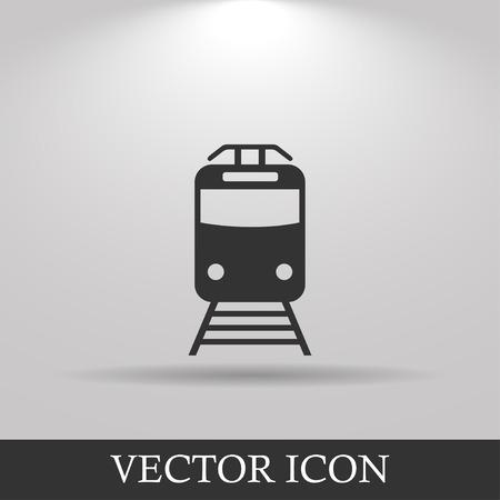 railway station: Train icon, isolated vector eps 10 illustration
