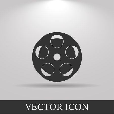 grayscale: film icon. Flat design style eps 10 Illustration