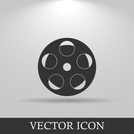 rollo pelicula: icono de la película. Estilo de diseño Flat eps 10 Vectores
