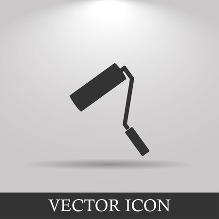 paintroller: Paint roller icon. Flat design style eps 10