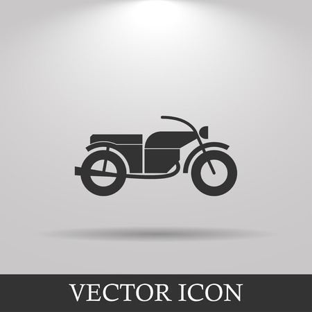 eps vector icon: motorcycle icon, isolated vector eps 10 illustration