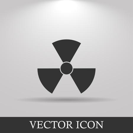 contaminated: radiation symbol. Flat design style eps 10 Stock Photo