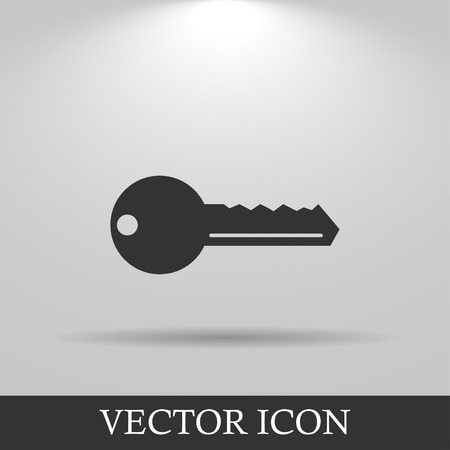10 key: Key vector icon. Flat design style eps 10 Illustration