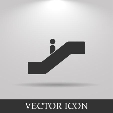escalate: Escalator icon. Flat design style. EPS 10