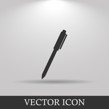 classic authors: Vector pen icon.  Modern design flat style icon.