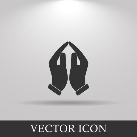 praying hands: Praying hands icon, vector illustration. Flat design style Illustration