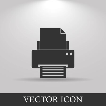 website buttons: Print icon. Flat design style eps 10