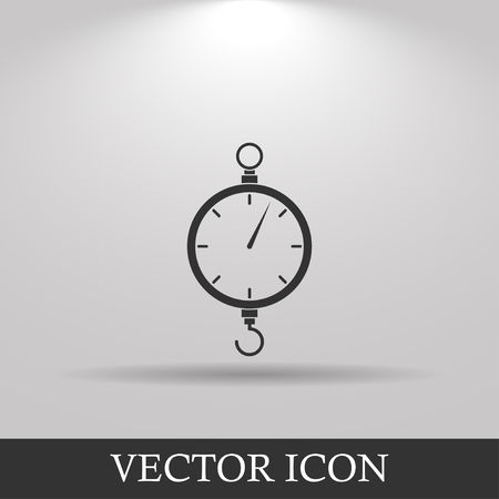 convicted: scales icon. Flat vector design style EPS