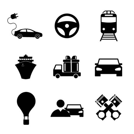 mini bike: Transportation icons. Flat design style eps 10