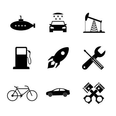 shifter: Transportation icons. Flat design style eps 10