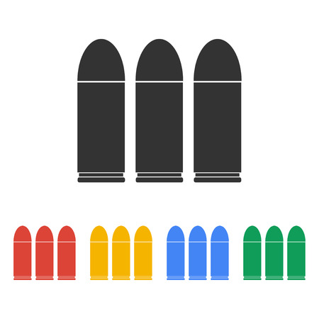 bullet icon. Flat design style eps 10