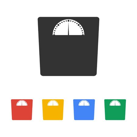 wight: weighting icon. Vector illustration EPS 10 flat