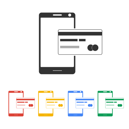 online payment: Mobile payment icon. Illustration vector EPS 10
