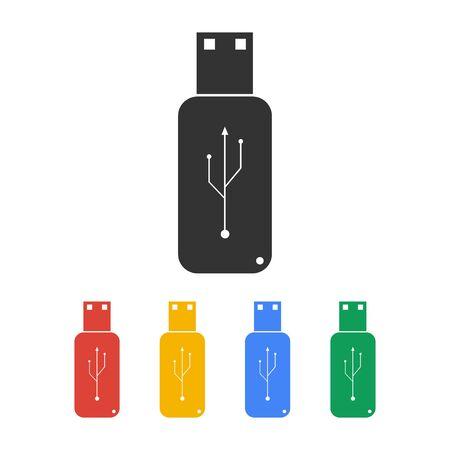 10 key: usb icon - vector. Flat design style. EPS