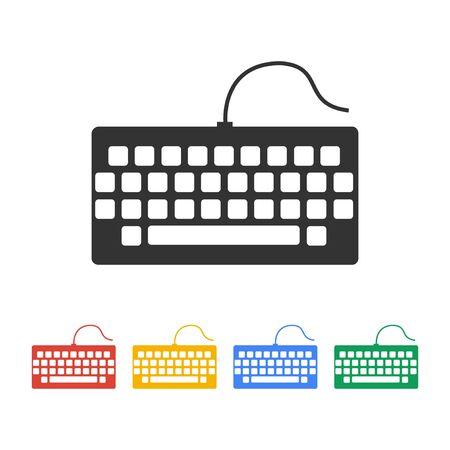 put the key: keyboard icon. Flat design style eps 10