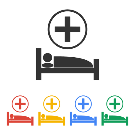 accident rate: hospital bed, Vector flat Illustration EPS 10