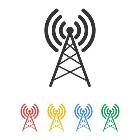 radio mast: Antenna icon, Vector flat Illustration EPS 10