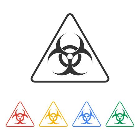 chemical warfare: Vector biohazard sign or icon, flat Illustration