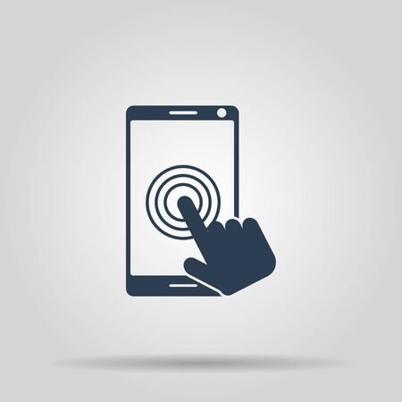 screen: Touch screen smartphone icon. Flat design style Illustration
