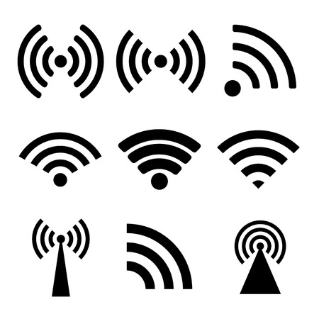 wireless lan: Wireless technology. Flat design style eps 10