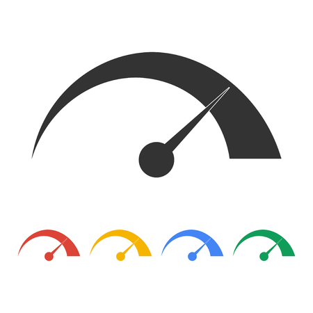 dsl: Vector speedometer icon Flat design style eps 10