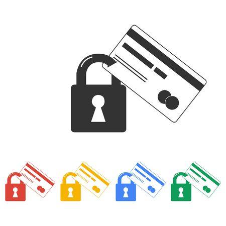 クレジット カードのセキュリティ アイコン。ベクター Eps 10  イラスト・ベクター素材