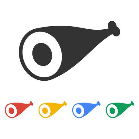kabob: Meat icon Flat design style eps 10