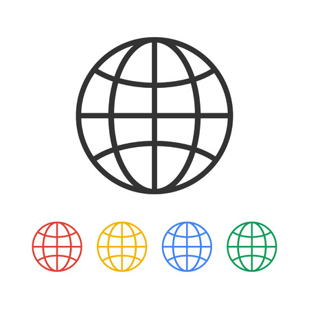 World Globe Icon, pictogram icon. Flat design style eps 10 Illustration