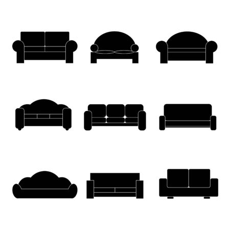 comfortable: Comfortable sofa Icons. Vector Illustrator. EPS 10