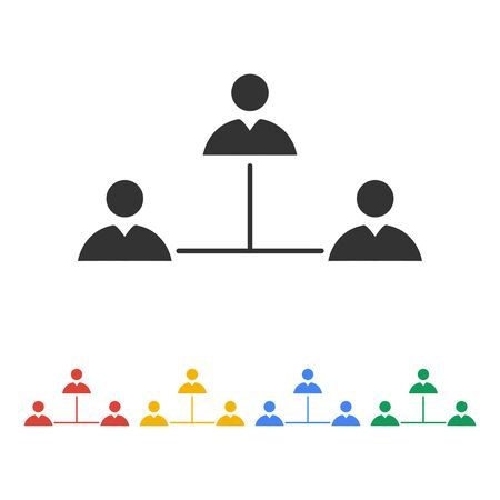 social gathering: Vector concept network icon. Design style eps 10 Illustration