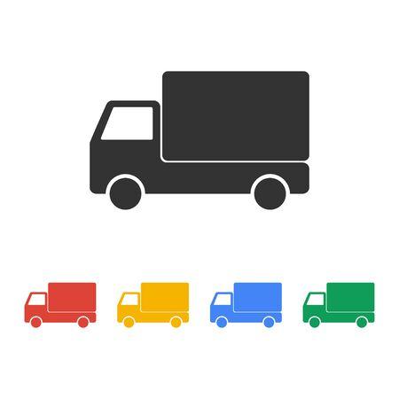 Truck icon. Flat design style eps 10 Иллюстрация
