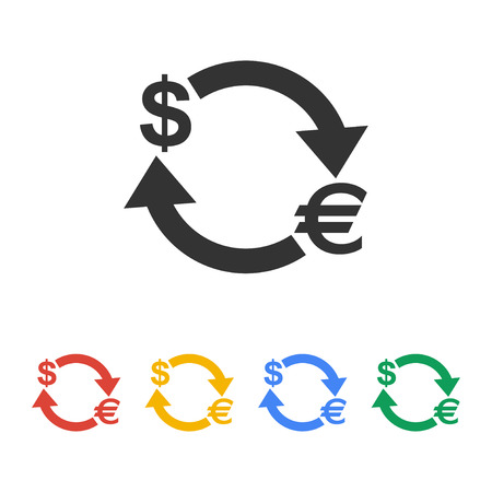 convert: Money convert icon. Euro Dollar. Flat design style