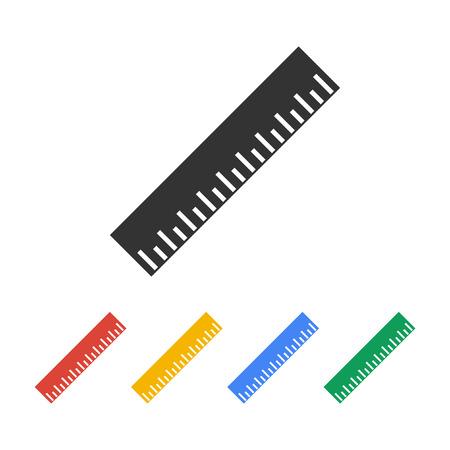 cinta de medir: Icono regla. estilo de diseño plano. 10 EPS Vectores