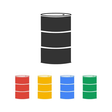 barel: Simple icon barrels of oil. Flat design style.