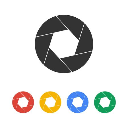 aperture icon. Flat design style eps 10