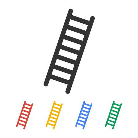 はしごのアイコン - ベクトルします。フラットなデザイン スタイル eps 10