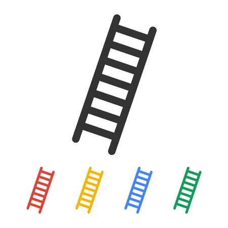 ladder: Ladder icon - Vector. Flat design style eps 10