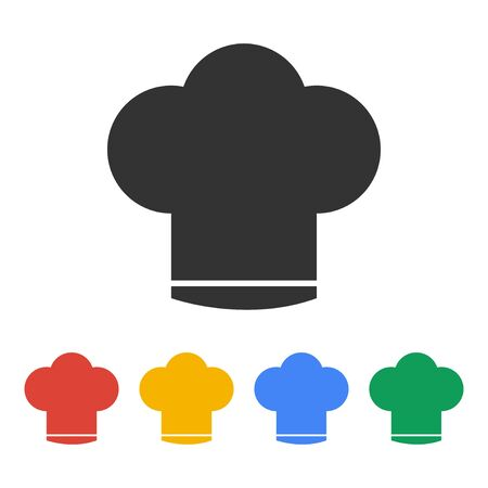fine cuisine: Chef cap  vector icon. Flat design style eps 10 Illustration