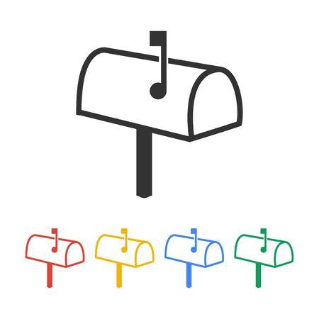 media distribution: Mailbox Icon. Flat design style eps 10