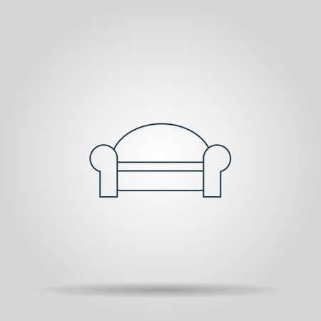 comfortable: Comfortable sofa Icons. Flat design style